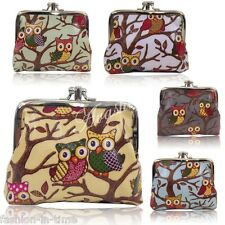 Lovely Oilcloth Owl Print Small Coin Purse (Inside with 2 compartment)