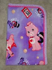 CRIB/NAP/TODDLER BLANKET -CARE BEARS - MAGICAL TRICKS & SHOW - 2 CHOICES