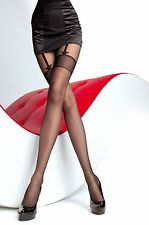 Halloween Fiore Sheila  20 Denier Sheer Mock Suspender Sexy Pantyhose Stockings