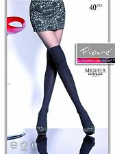 European Fashion Mock Hold-up 40D TIGHTS fromFiore MIGUELA Hosiery Pantyhose