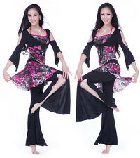 Brand New 2013  Free Shipping Belly Dance Costumes Dancewear 3Pcs Top Tube Pants