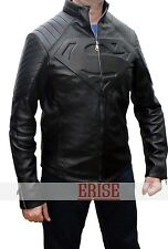 Superman Black Smallville Leather Shield Jacket-100% Money Back Guarantee!!