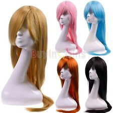 80CM New Cute Colors Long Straight Full Hair Wigs Comic Cosplay Costume Party