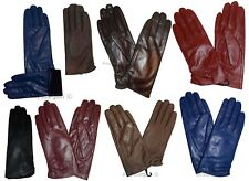 Women's Soft leather lined leather gloves warm winter gloves ladies gloves bnwt