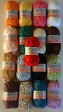 100%SOFT COTTON KNITTING&CROCHET YARN,BEST CHOICE  COLOURS & PRICE 50g BUY WITH