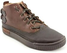 Caterpillar JERET MID Mens Work Casual  Brown Leather Boots Sneakers Shoes