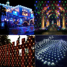 210/320 LED Fairy Net Web Light Indoor/Outdoor Fence Wall Christmas Wedding Yard