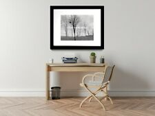 As the Fog Rolls In - Crow Tree Original Handmade Matted Picture Art Print A532