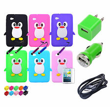 Cute Penguin Silicone Rubber Case Cover For Samsung Galaxy Tab 2 7.0 P3100 P3110