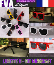 Lunettes de Soleil MINECRAFT 8 BIT GEEK FASHION SUNGLASSES RETRO VINTAGE Sonnenb