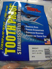 #11, 140 lb AFW TOOTH PROOF SINGLE STRAND WIRE-STAINLESS STEEL