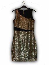 PRIMARK ATMOSPHERE Gold Sequin Glamour Bodycon Sexy Christmas Party Dress BNWT