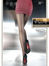 Fiore BARLETTA Fashion Glitzy Back Seam 20D Tights in Grey from Europe Hosiery