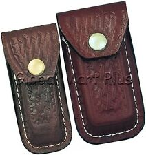 Pocket Knife Multi Tool Swiss Army Sheath Pouch Case Formed Leather Basketweave