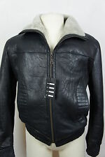 New Real Shearling Sheepskin Leather Men Bomber Flight Pilot Aviator Jacket M-3X