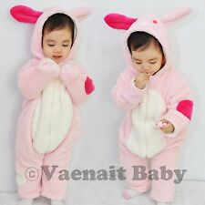 "NWT Vaenait Baby Winter Snowsuit Fleece Hoodie Jumpsuit Outwear ""Bunny Bunny"""