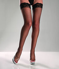sexy BE WICKED lace TOP fishnet NETTED thigh HIGHS stockings PANTYHOSE hosiery