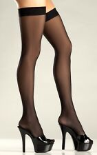 BW562 fashion NWT sexy BE WICKED! sheer THIGH highs NYLONS stockings PANTYHOSE