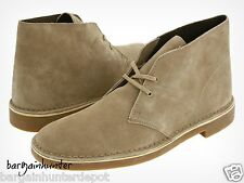 NEW CLARKS BUSHACRE 2 DESERT BOOT SAND SUEDE MEN 82285