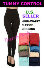 SHAPEWEAR Fleece Leggings High Waist Opaque Thick Winter Tummy Control Skinny
