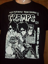 MENS PUNK T SHIRT 'THE CRAMPS' IN BLACK S M L XL XXL