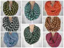 New Chevron Infinity Scarf Spring Cowl Scarves Lightweight Double Loop Colors
