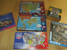 Jigsaw Puzzles - Children's Maps World / USA, Las Vegas, Dowdle Folk Art  etc.