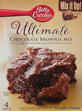 Betty Crocker Ultimate Chocolate Brownie Mix Hershey's Semi Sweet Bites Cookies