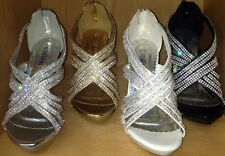 NEW Womens DELICIOUS 01 Rhinestone WEDDING PARTY Sandal Open Toe Platform Heel