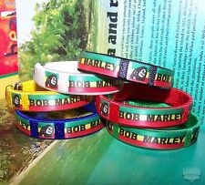 Adjustable Bob Marley Rasta Bracelet Cuff Black Blue Red Yellow Green White Irie