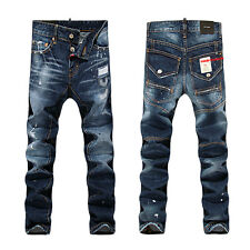 NEW Men Italy Style Fashion Distressed Destroyed Torn JEANS D#1296T Size 28-36