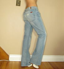 Seven 7 For All Mankind Original Bootcut Light Distressed Low-Rise Jeans 31,32