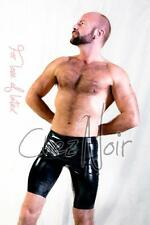 Chlorinated Latex Bermuda Shorts - Unisex - Black or Red - Rubber Fetish