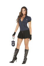 NWT sexy ELEGANT MOMENTS police OFFICER cop MIRANDA rights PRISON guard COSTUME