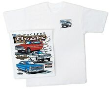 Ford Factory Flyers Tee Shirt Fairlane Car Thunderbolt Galaxy Classic Vintage