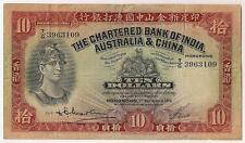 HONG KONG BANK NOTE GLOSSY POSTER PICTURE PHOTO ten 10 dollars china money 1211