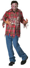 Plaid Boy Zombie Dawn of the Dead Movie Fancy Dress Up Halloween Adult Costume