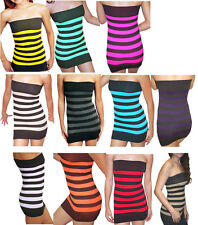 Sexy Strapless Stripes Tube  Seamless Bodycon Top One Size Fits S-M-L Style 1715