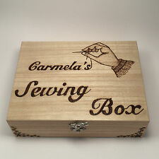 Wooden Sewing Box Personalised Gift