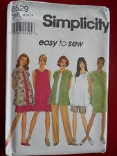 Maternity Dress Top Shirt Jacket Skirt Pant Shorts Simplicity 8529 size 12 - 22