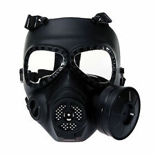New Airsoft Anti Fog Turbo Fan System Face Protector Gas Mask Wargame Paintball