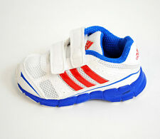 GENUINE BOYS (INFANTS) ADIDAS SPORTS VELCRO TRAINERS WHITE/RED/BLUE (Q23369)