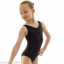 Roch Valley Sleeveless Tank Leotard Sheree Nylon Lycra Black Dance Gymnastics