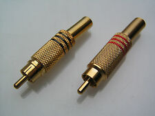 High Quality Gold Plated Sleeved Phono /RCA Plug, in Red or Black PP7G