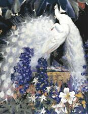 White Peacocks ~ Counted Cross Stitch Chart ~ Birds