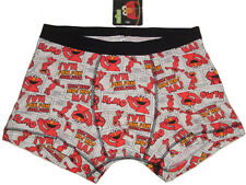 "NEW SESAME STREET ELMO HEE! HO! HA! BOXER BRIEF TRUNK UNDERWEAR S (28""-30"")"