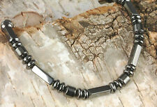 Handmade in USA  Strong Magnetic Black Hematite Circulation Bracelet
