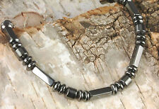 Handmade in USA  Strong Magnetic Black Hematite Circulation Bracelet for therapy