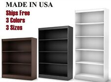 BOOKCASE W 3, 5 OR 6 SHELVES AVAILABLE IN BLACK BROWN WHITE NEW BOOKSHELF