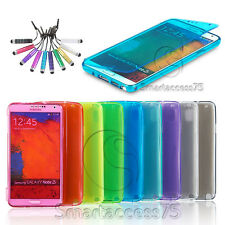 COQUE HOUSSE A RABAT ETUI SILICONE GEL POUR SMARTPHONES SAMSUNG + FILM + STYLET